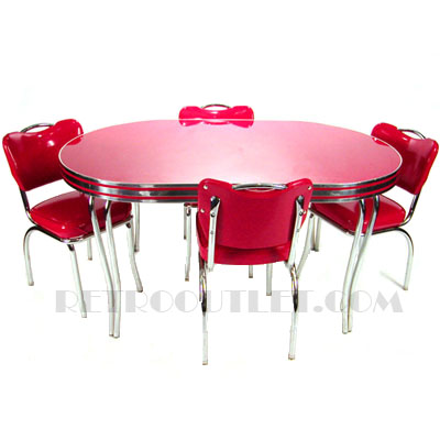 36x60 Oval Cracked Ice Dinette Set